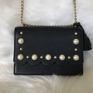 Hayes Street pearl hazel black kate spade leather